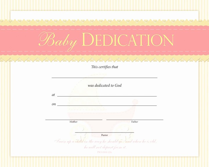 Baby Dedication Certificate Template Lovely Baby Dedication Certificate Pentecostalpublishing Baby Dedication Pinterest