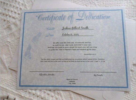 Baby Dedication Certificate Template New 14 Baby Certificate Templates