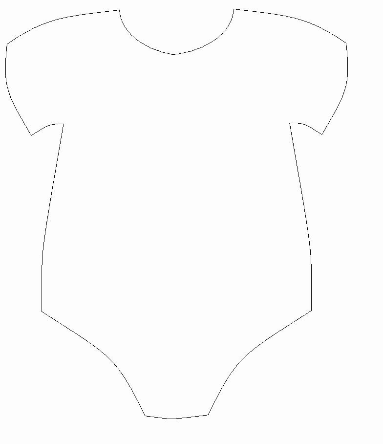Baby Onesies Invitations Template Best Of Free Baby Esie Cut Out Template Baby De Anel Pinterest