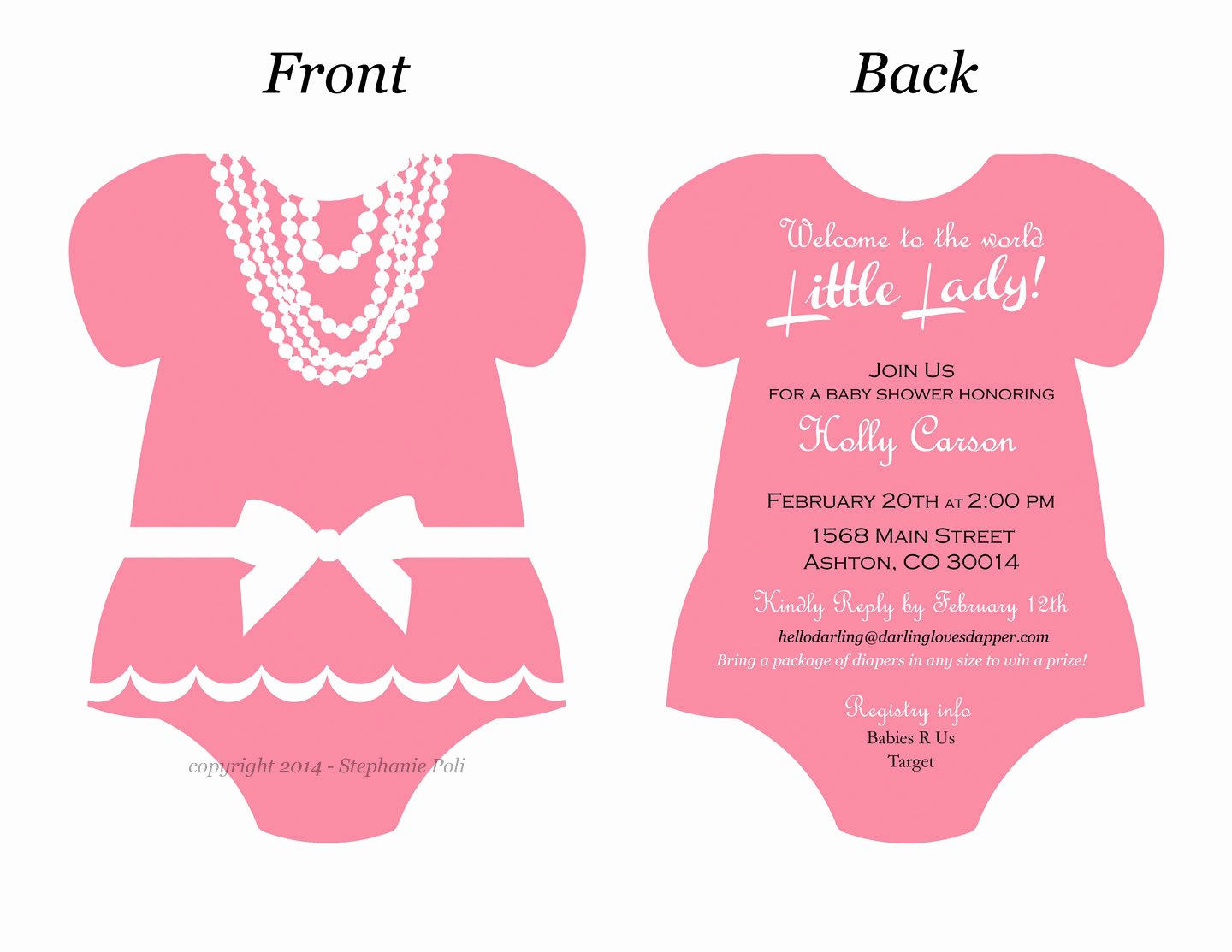 Baby Onesies Invitations Template Fresh Esie Invitation Templates