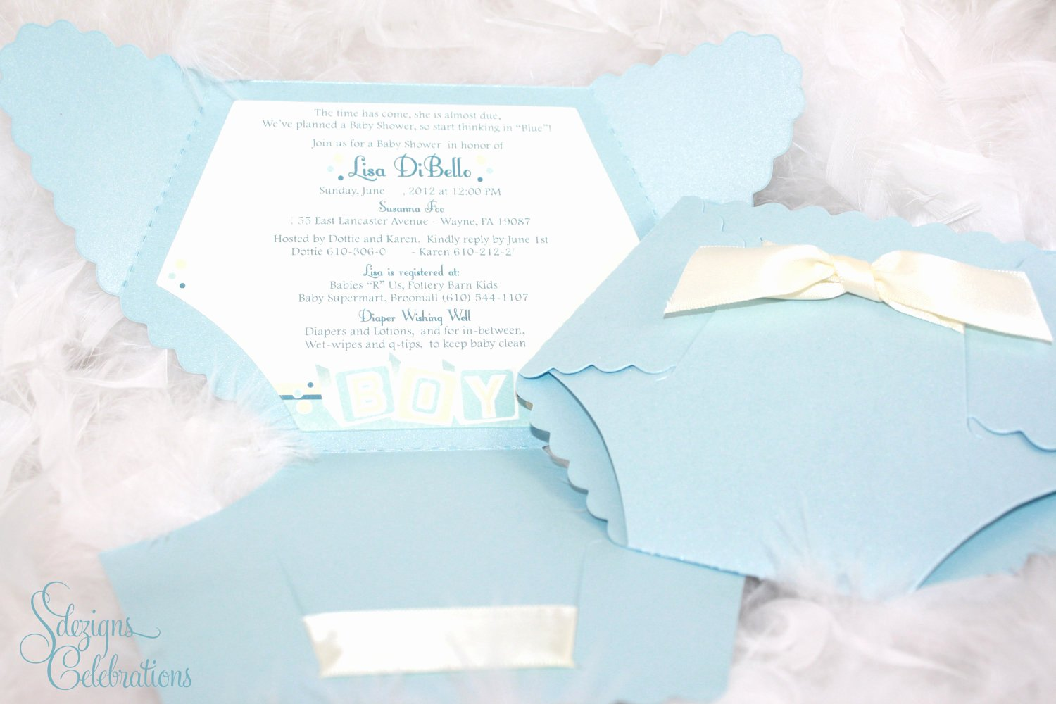 Baby Shower Diaper Invitation Template Fresh Diaper Baby Shower Invitation Baby Block Design by Sdezigns