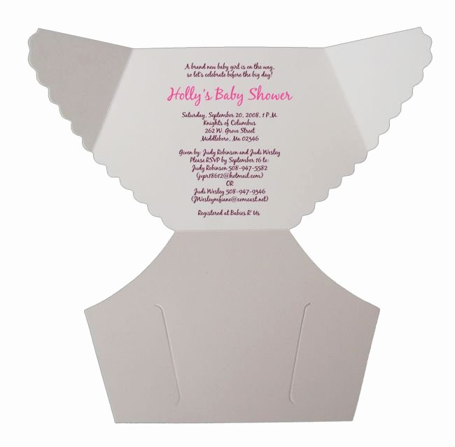 Baby Shower Diaper Invitation Template Fresh Free Baby Diaper Invitation Template Damask Pink Baby Shower Diaper Invitations