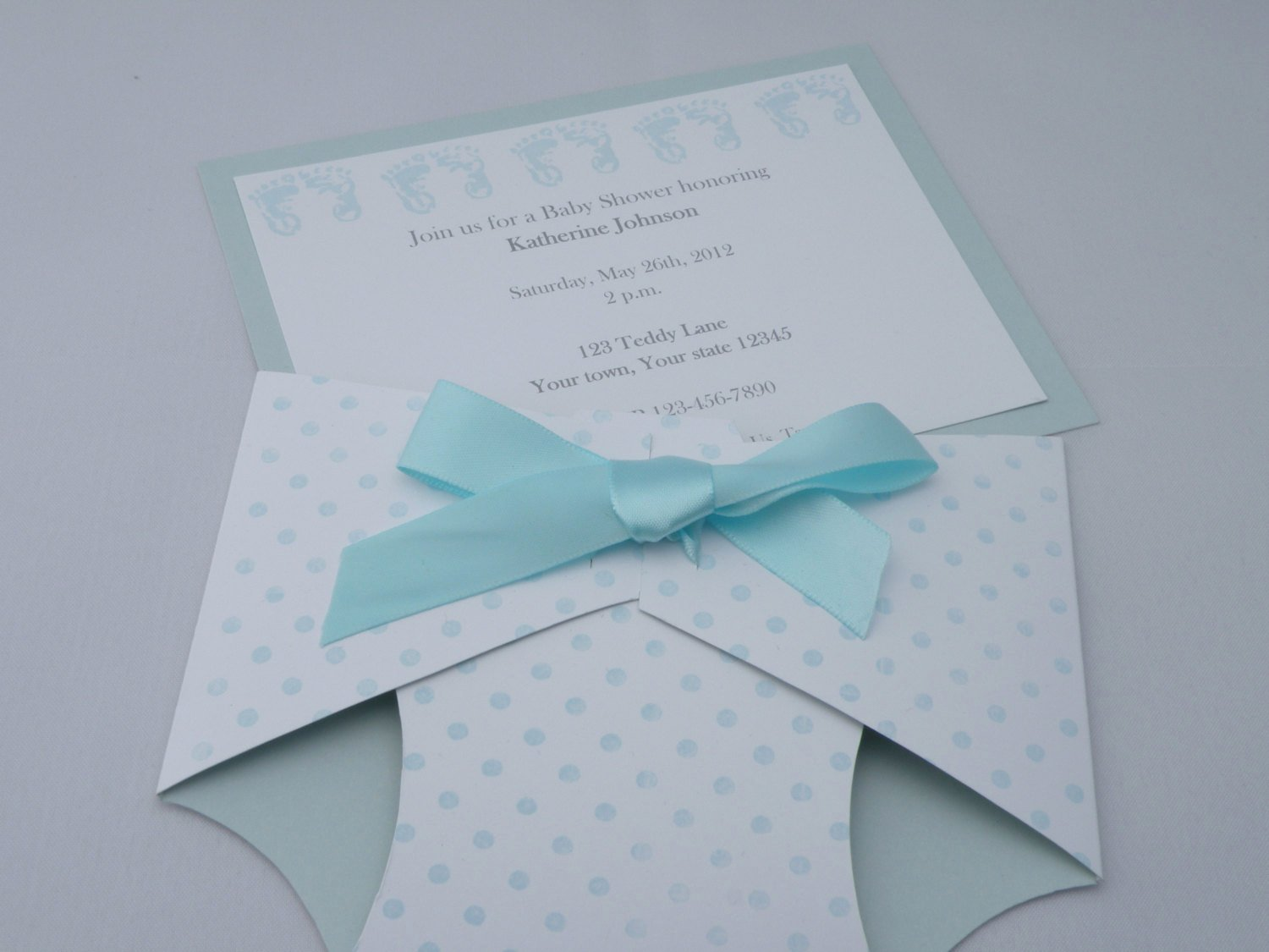 Baby Shower Diaper Invitation Template New Personalized Diaper Shaped Baby Shower Invitation or Baby