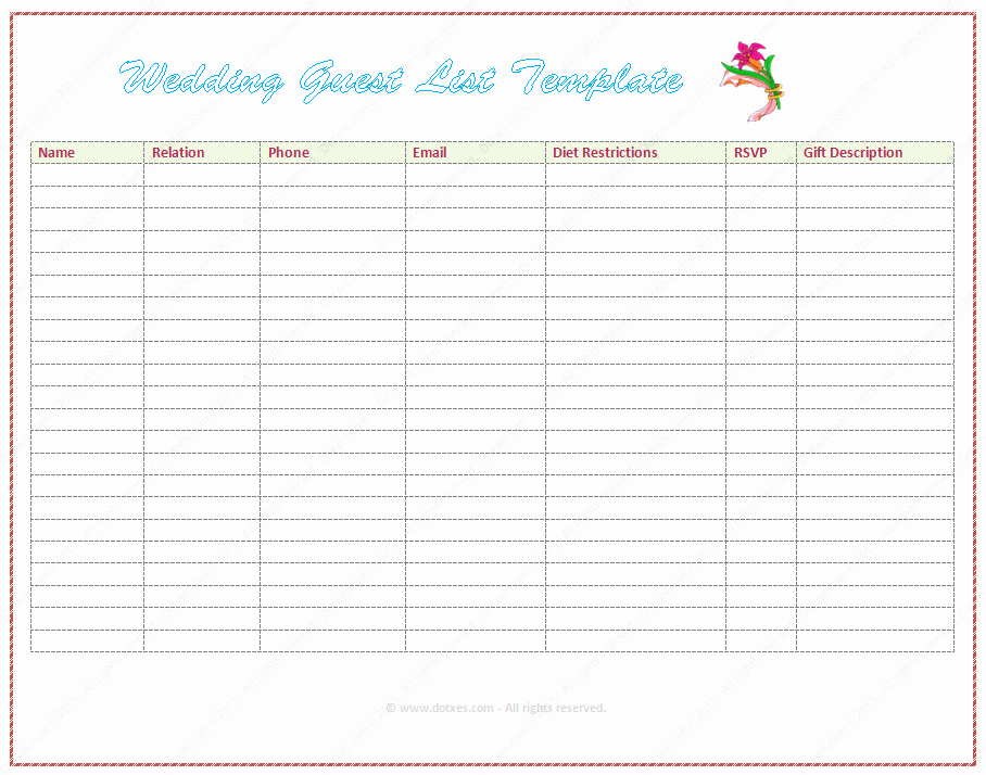 Baby Shower Gift List Template New Bridal Shower Gift List Template Free Gift Ftempo