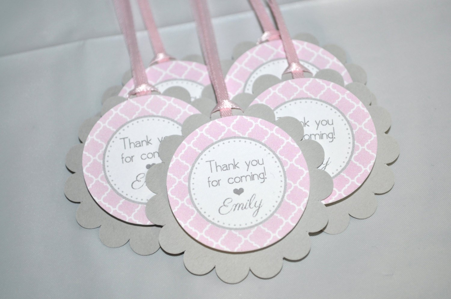 Baby Shower Gift Tag Beautiful Girls Baby Shower Favor Tags – It S A Girl Favors – Pink and Gray – Girl Baby Shower Decorations