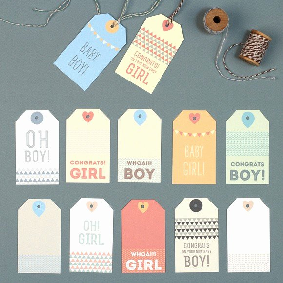 Baby Shower Gift Tag Best Of New Baby Gift Tags Printable by Basic Invite