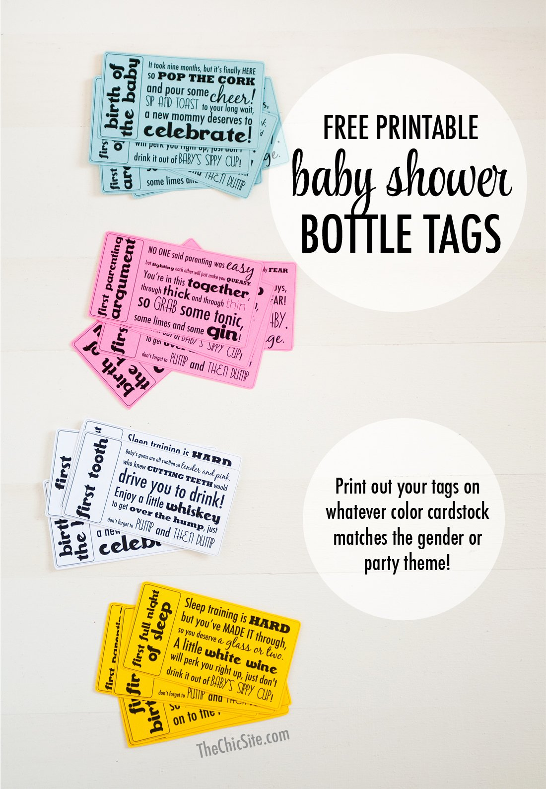 Baby Shower Gift Tag Fresh Baby Shower Gift Tags the Chic Site