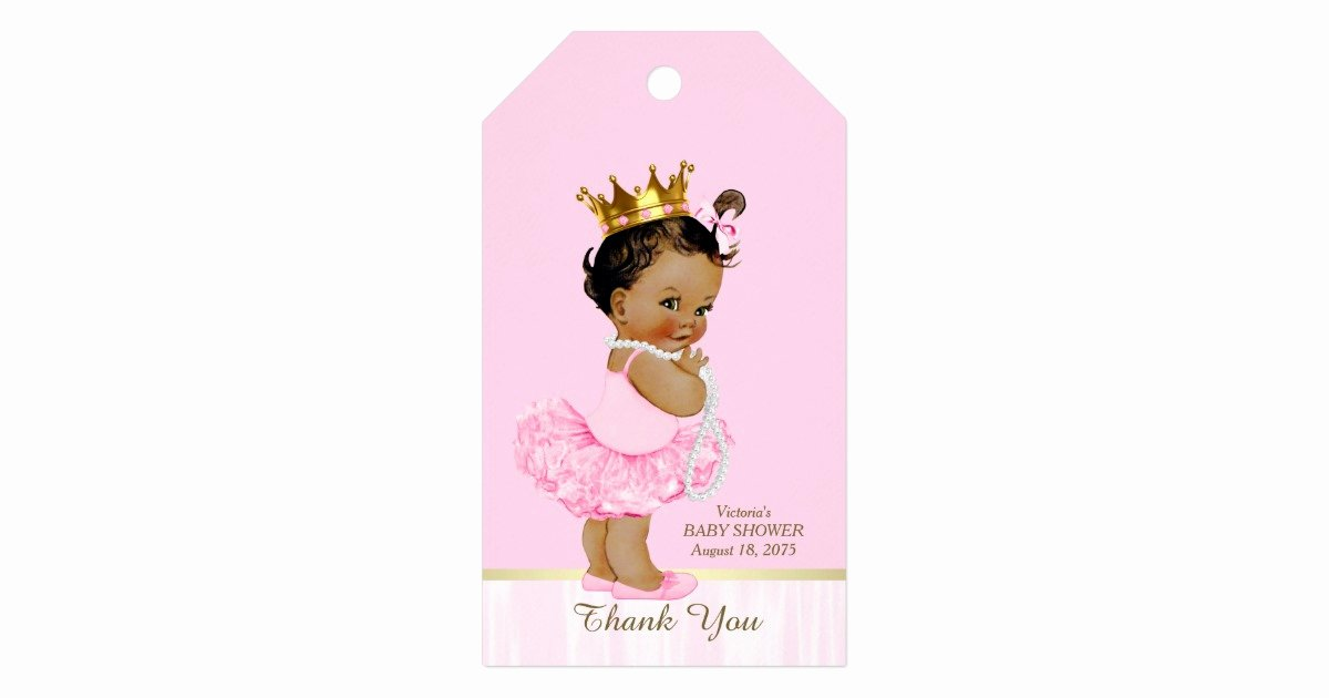Baby Shower Gift Tag Fresh Ethnic Princess Ballerina Pink Tutu Baby Shower Gift Tags