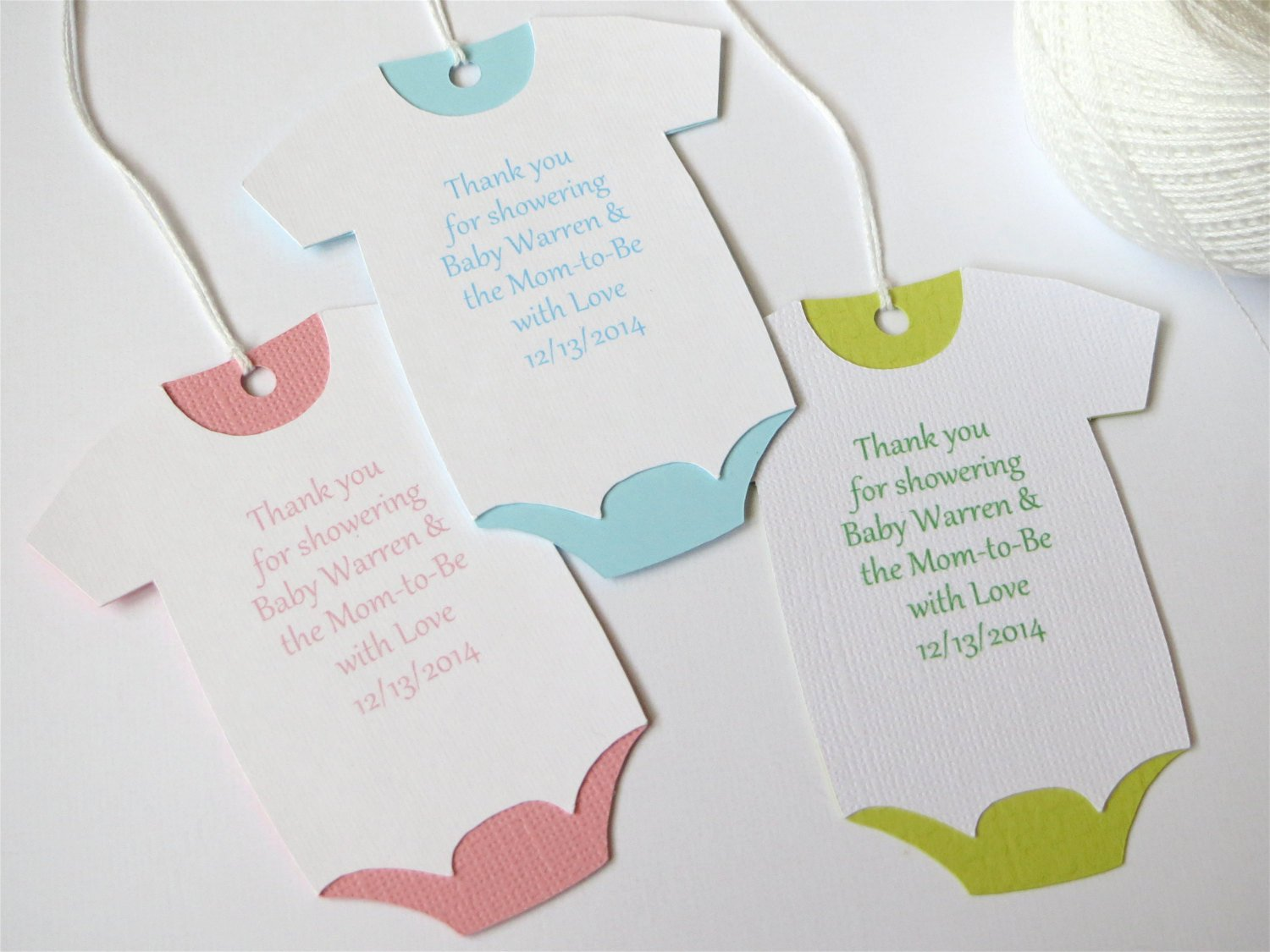 Baby Shower Gift Tag Lovely Baby Shower Thank You Tags Custom Baby Shower Favor