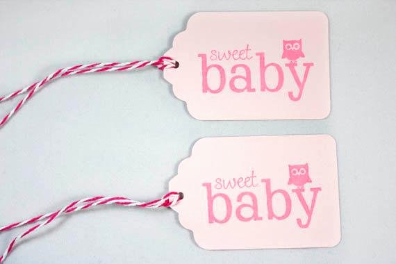 Baby Shower Gift Tag Unique 10 Pink Baby Shower Tags Sweet Baby Owl Gift Tags Pink Baby