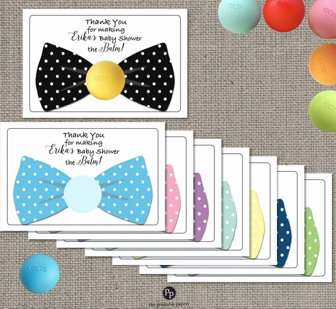 Baby Shower Gift Tags Awesome Bow Tie Baby Shower Gift Tags for Eos Lip Balm Ts Thank