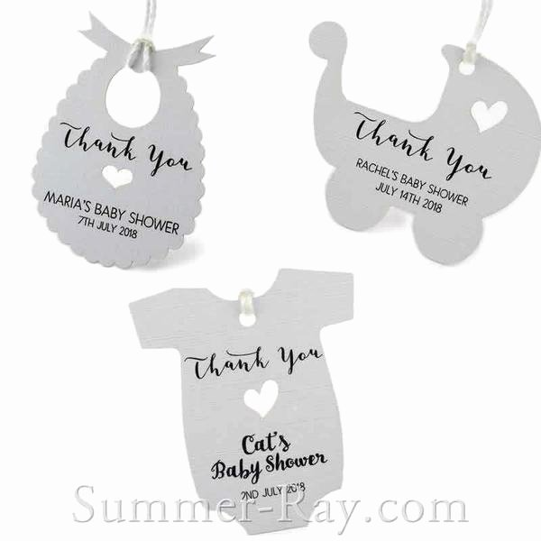 Baby Shower Gift Tags Awesome Personalized White Baby Shower Favor Tags Gift Tags