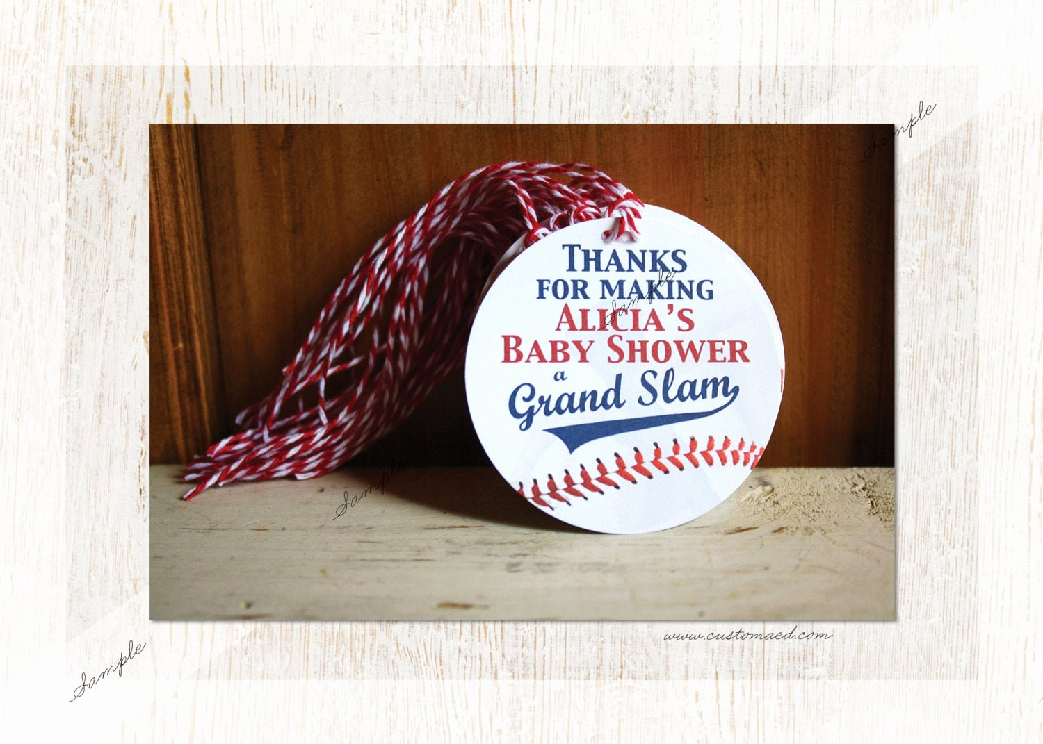 Baby Shower Gift Tags Beautiful Baseball Baby Shower Gift Tags Party Favor Personalized