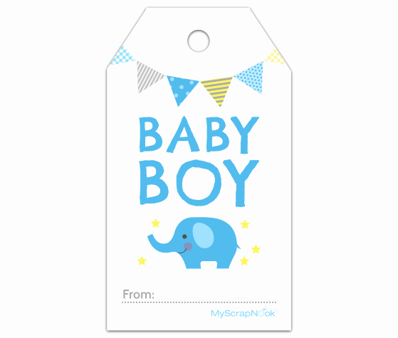 Baby Shower Gift Tags Beautiful Download This Boy Baby Blue Elephant Gift Tag and Other Free Printables From Myscrapnook