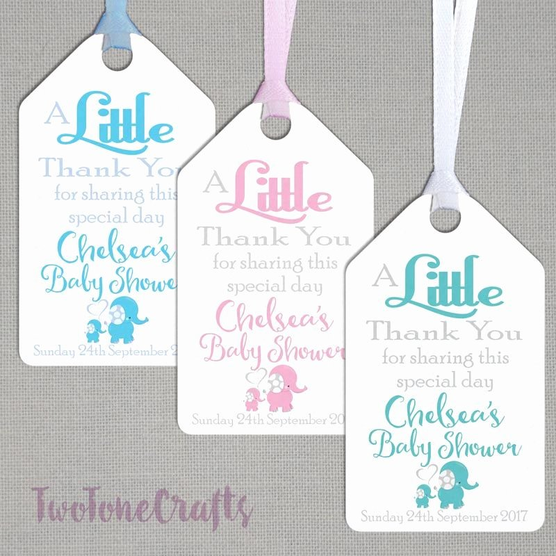Baby Shower Gift Tags Beautiful Personalised Baby Shower T Tags Bs02 Twotone Crafts