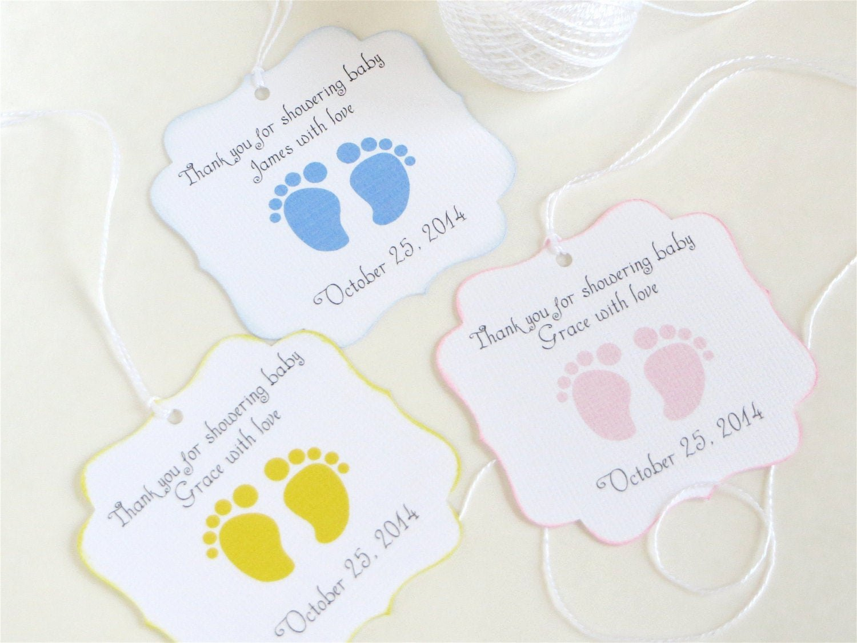 Baby Shower Gift Tags Best Of Baby Feet Custom Baby Shower Favor Tags Footprint Baby Shower