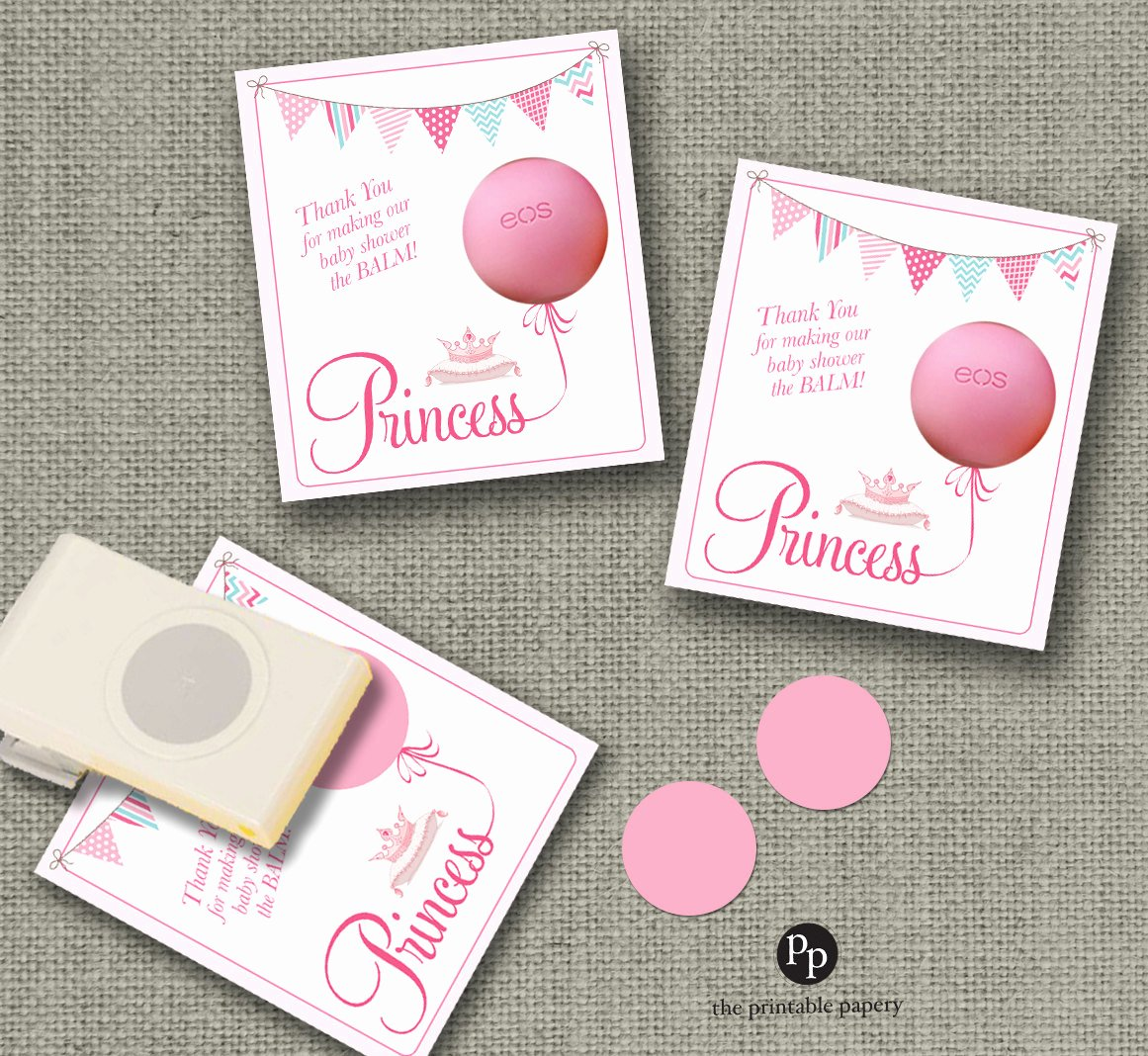 Baby Shower Gift Tags Fresh Baby Shower Gift Tags for Eos Lip Balm Ts Princess Design