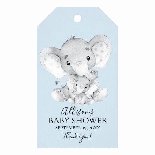 Baby Shower Gift Tags Inspirational Elephant Baby Shower Favor Gift Tag