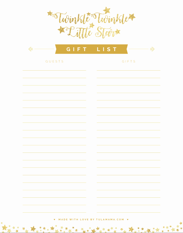 Baby Shower Gift Tracker Fresh Free Printable Gift Tracker for Any Occasion Tulamama