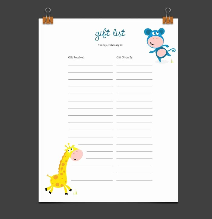 Baby Shower Guest List Template Awesome 8 Best Baby Showers Images On Pinterest