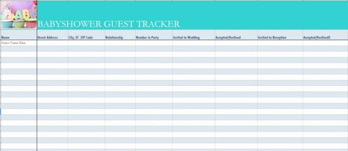 Baby Shower Guest List Template Best Of 17 Free Baby Shower Guest List Templates Ms Fice Documents