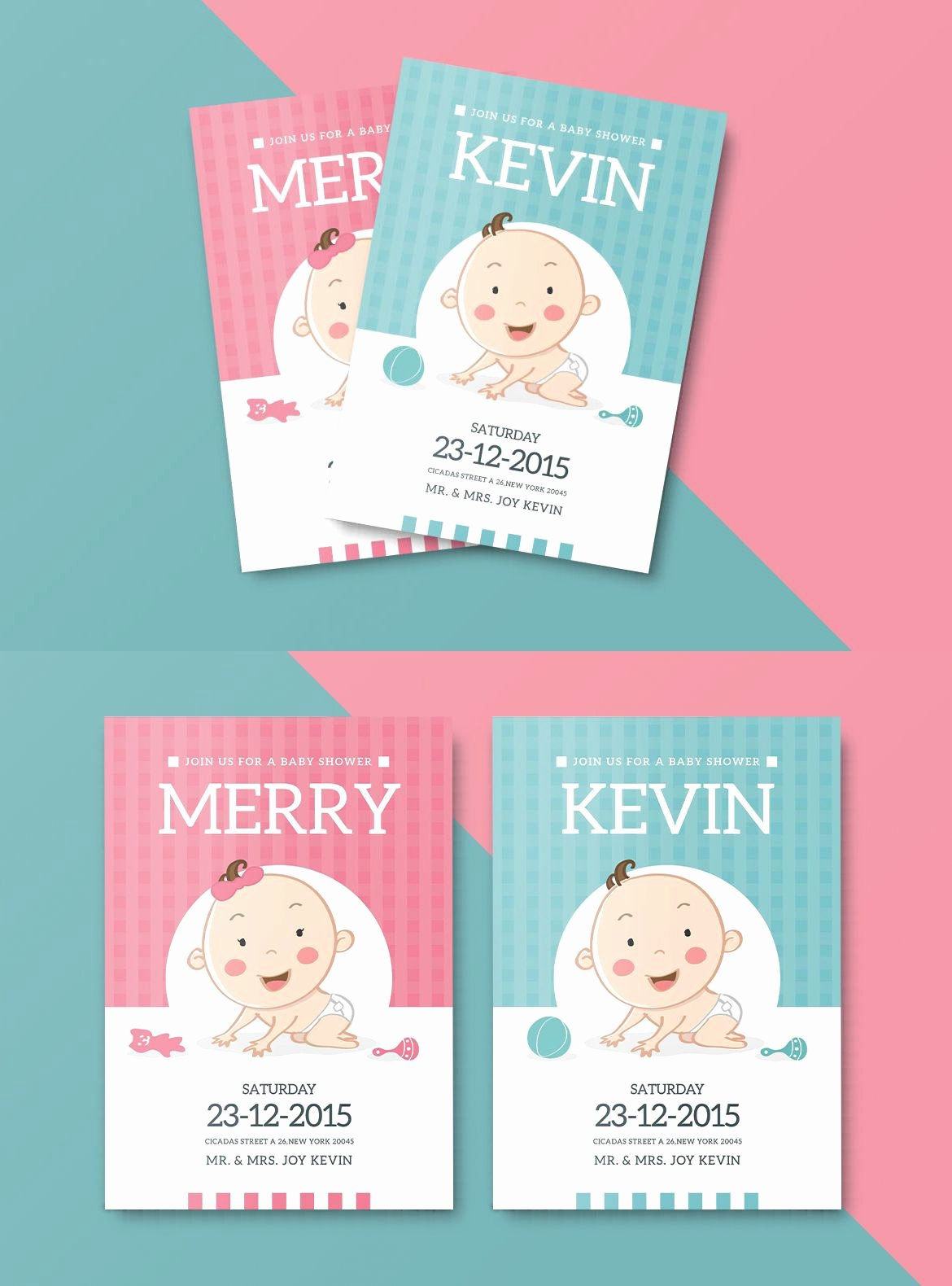 Baby Shower Invitation Psd Awesome Baby Shower Invitation Card Template Ai Psd