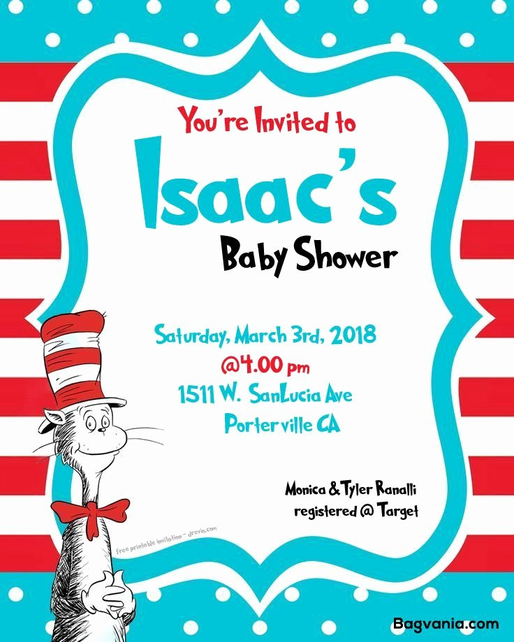 Baby Shower Invitation Psd Awesome Free Dr Seuss Baby Shower Invitation Psd