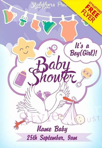 Baby Shower Invitation Psd Elegant Baby Shower Free Invitation event Psd Flyer Psdflyer