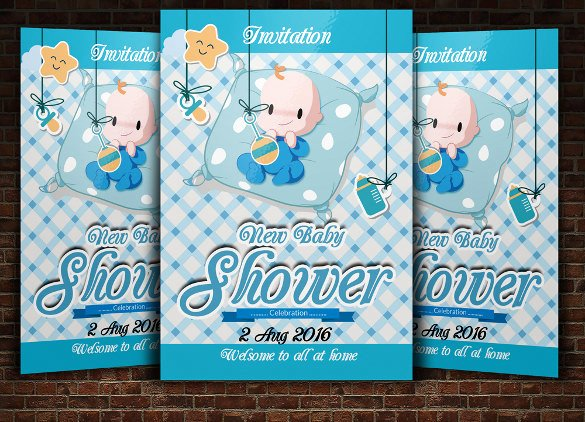 Baby Shower Invitation Psd Fresh 39 Baby Shower Invitation Templates Psd Vector Eps Ai