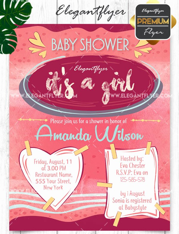 Baby Shower Invitation Psd Inspirational 20 Free and Premium Baby Shower Invitation Templates In