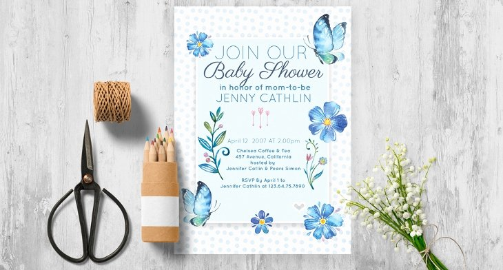 Baby Shower Invitation Psd Luxury 30 Baby Shower Invitations Printable Psd Ai Vector