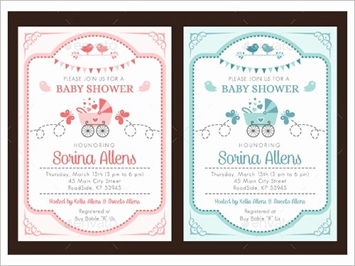 Baby Shower Invitation Psd Luxury Sample Invitation Template Download Premium and Free