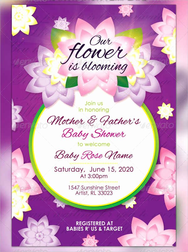 Baby Shower Invitation Psd New 8 Baby Shower Invitation Postcard Designs & Templates