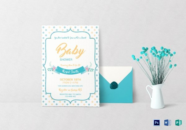 Baby Shower Invitation Psd Unique 39 Baby Shower Invitation Templates Psd Vector Eps Ai