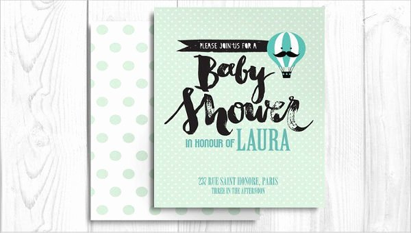 Baby Shower Invitation Psd Unique 43 Printable Baby Shower Invitations Psd Ai Word Eps