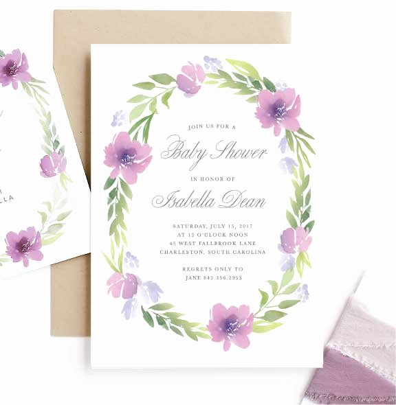 Baby Shower Menu Cards Elegant Invitations Announcements and Cards