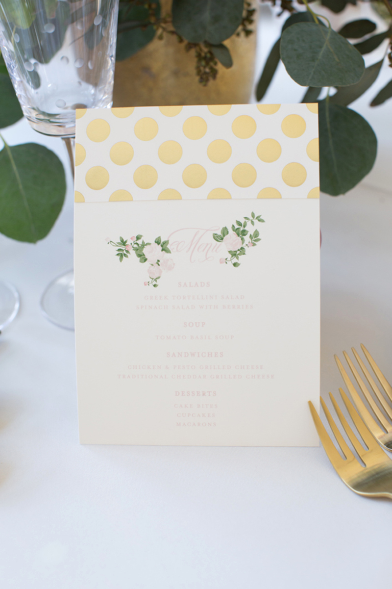 Baby Shower Menu Cards Lovely Celebrating Baby Girl – Ivory Lane
