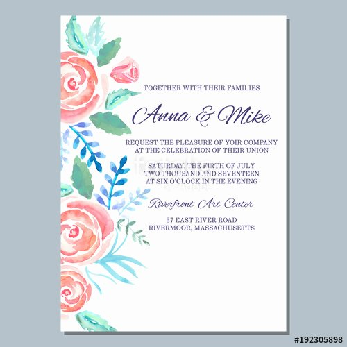 "Baby Shower Menu Template Lovely ""wedding Invitation Template with Watercolor Roses Thank You Card Save the Date Cards Baby"