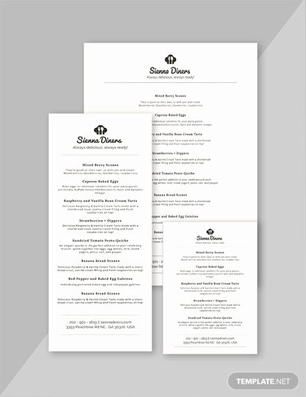 Baby Shower Menu Templates Awesome Simple Baby Shower Menu