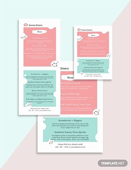 Baby Shower Menu Templates New 12 Baby Shower Save the Date Template Designs Psd Ai Pages