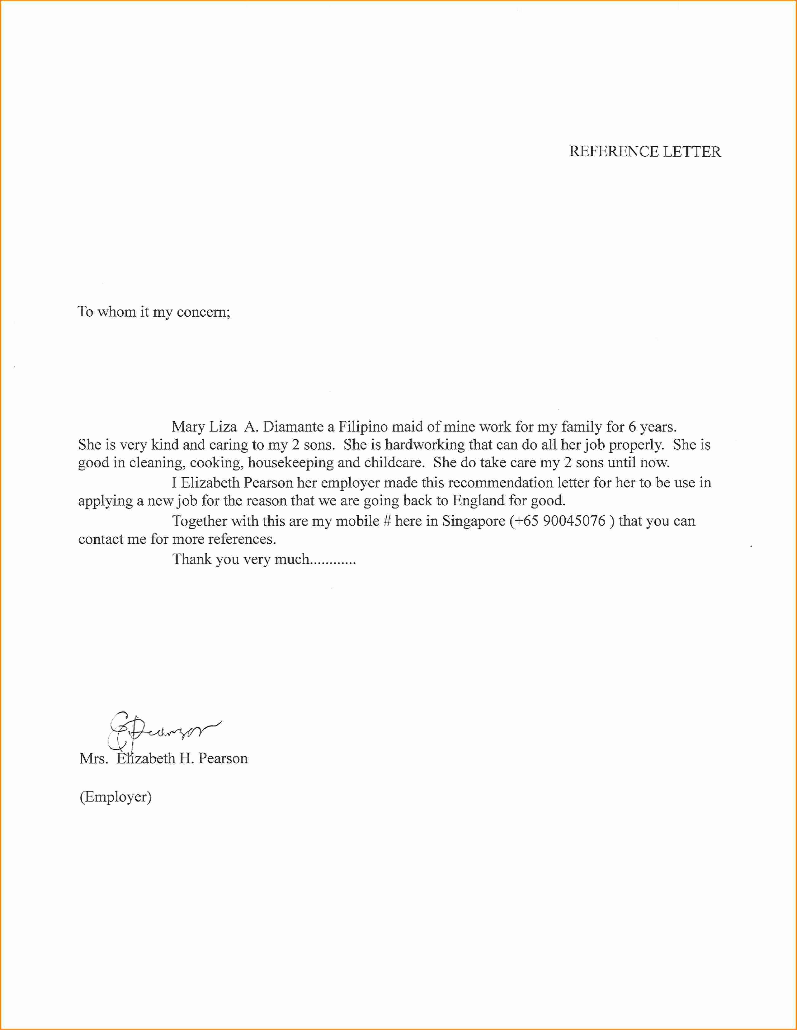 Babysitter Letter Of Recommendation Fresh Letter Re Mendation for Babysitter