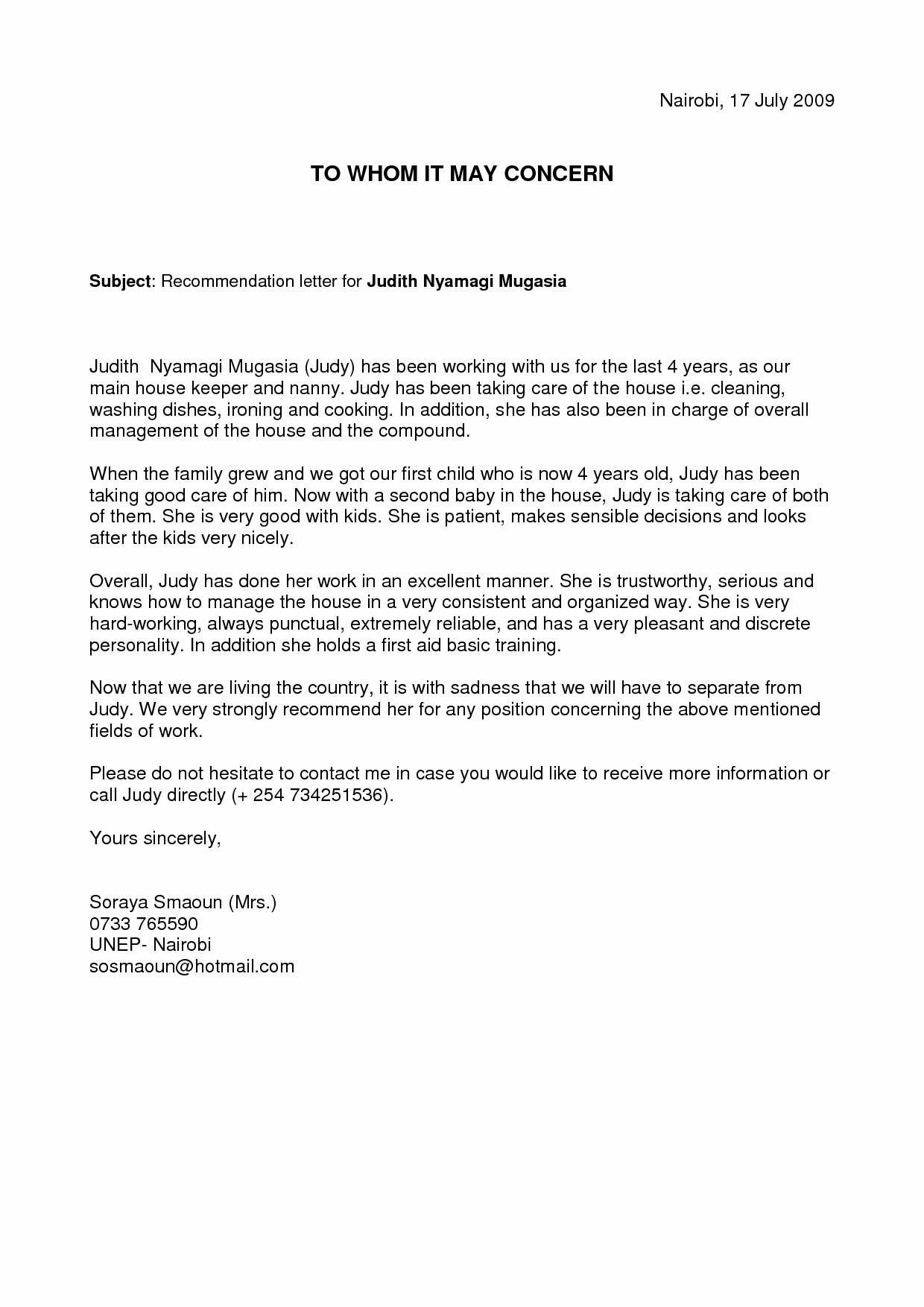 Babysitter Letter Of Recommendation Fresh Writing A Reference Letter for A Childminder