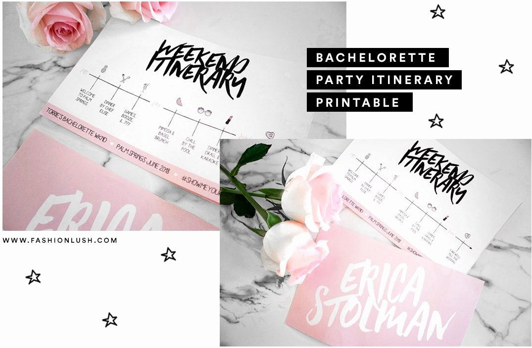 Bachelorette Party Itinerary Template Beautiful Bachelorette Weekend Itinerary Free Printable