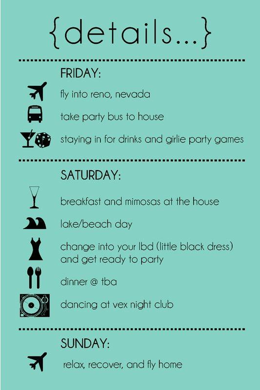 Bachelorette Party Itinerary Template Beautiful the Bachelorette Sweetlex