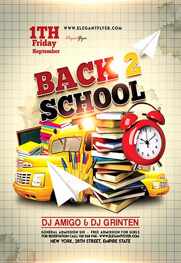 Back to School Flyer Template New Flyer for Back to School – by Elegantflyer