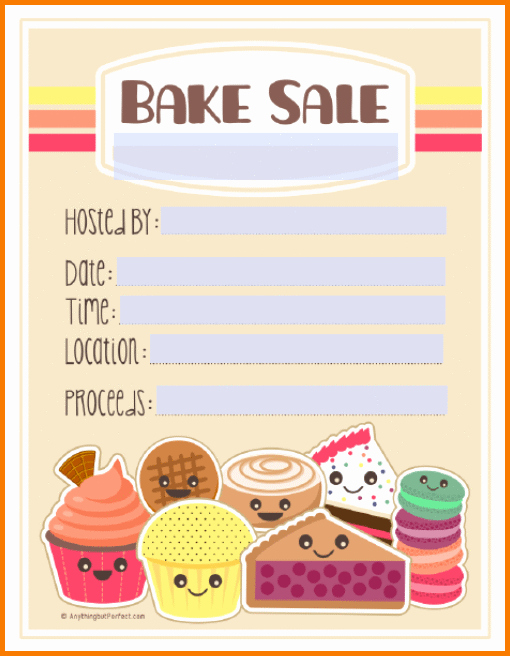 Bake Sale Flyer Template Best Of Bake Sale Flyers