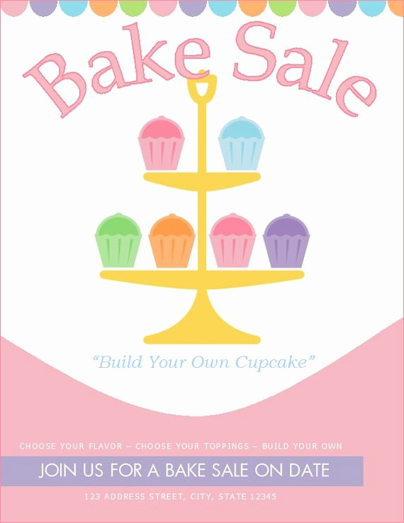Bake Sale Flyer Template Free Awesome Free Bake Sale Flyer Template