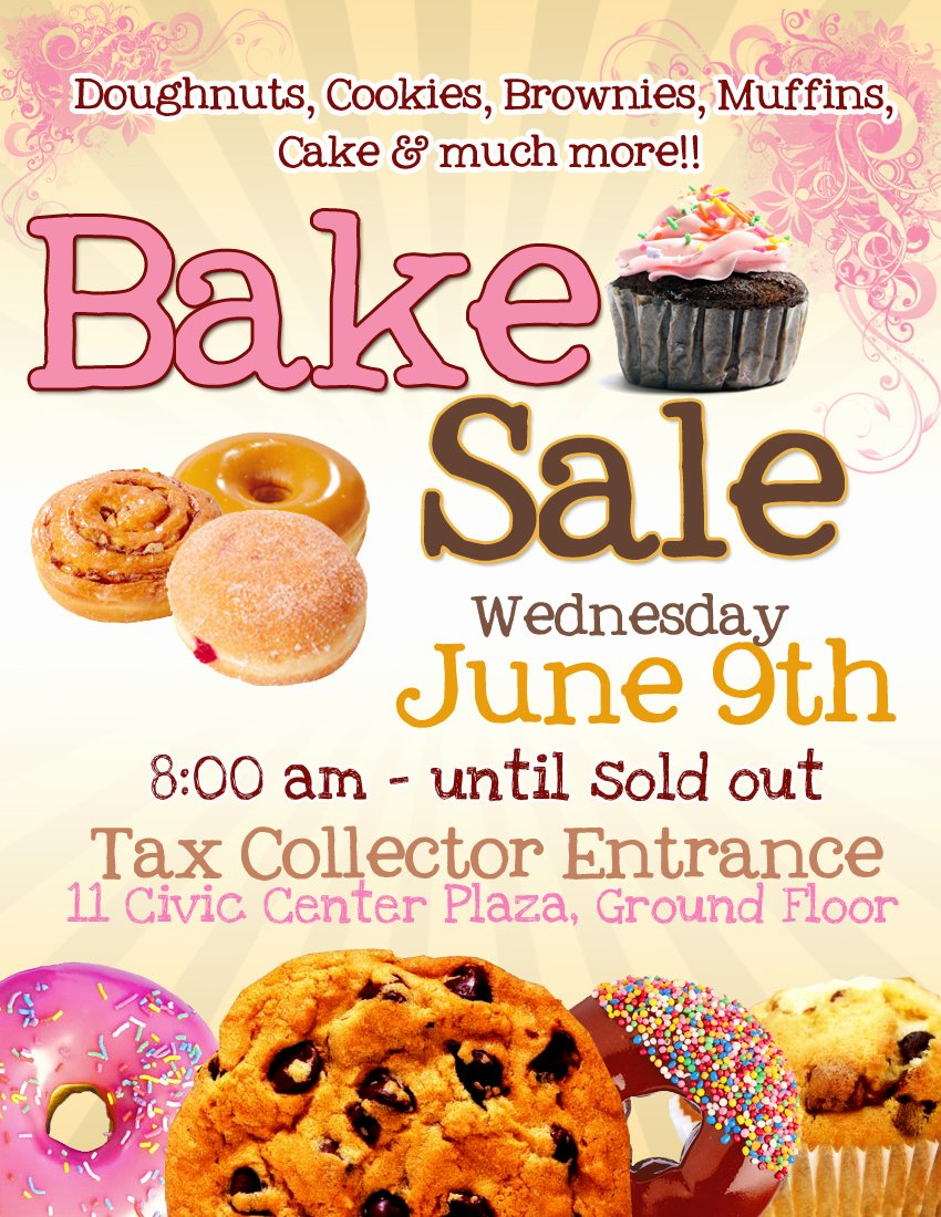 Bake Sale Flyer Template Free Awesome Pretty Witty Designs some Flyers