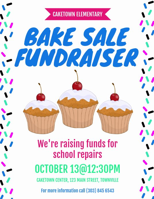 Bake Sale Flyer Template Free Elegant Bake Sale Fundraiser Flyer Template
