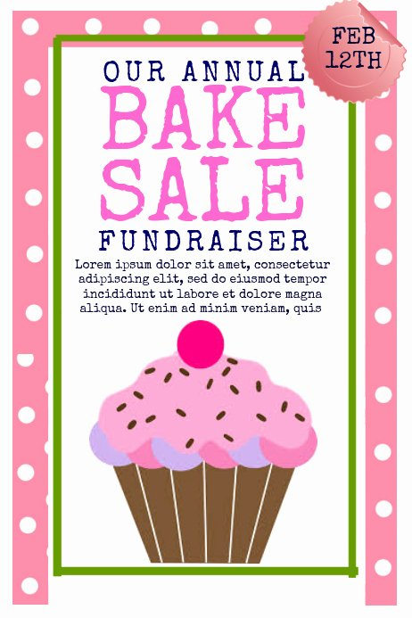Bake Sale Flyer Template Free Inspirational Bake Sale Template